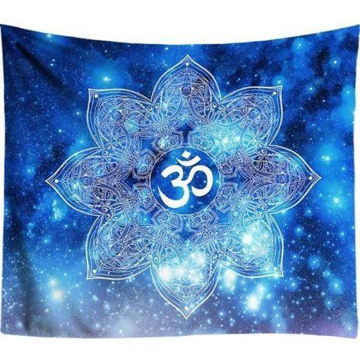 Om Symbol indische Wandbehang - 150 x 130cm